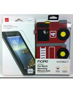 Incipio Shock Absorbing Silicone Case for Ellipsis 7 W/Glass Screen Protector
