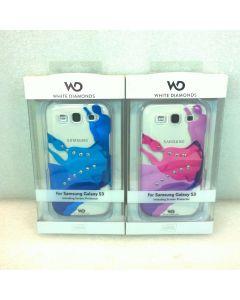 White Diamonds Swarovski Elements Case W/Screen Protector for Samsung Galaxy S3