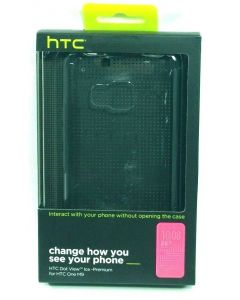 HTC New Dot View Ice Premium Hard Case for HTC One M9 - Clear Black