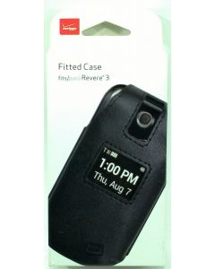 Verizon Wireless - Leather Pouch Case with Rotating Belt Clip For Revere - Black