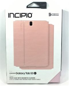 "Incipio Faraday Folio Magnetic Closure Case For Samsung Galaxy Tab S3 9.7""-Pink"