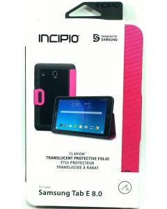 "Incipio Clarion Folio Translucent Protective Case For Samsung Tab E 8"" - Pink"